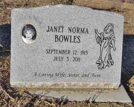 BOWLES, JANET NORMA - Yavapai County, Arizona   JANET NORMA BOWLES - Arizona Gravestone Photos