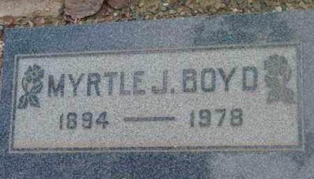 MICKLE BOYD, MYRTLE J. - Yavapai County, Arizona | MYRTLE J. MICKLE BOYD - Arizona Gravestone Photos
