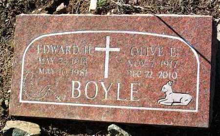 BOYLE, OLIVE E. - Yavapai County, Arizona   OLIVE E. BOYLE - Arizona Gravestone Photos