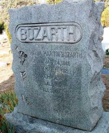 MARTIN BOZARTH, NEVADA - Yavapai County, Arizona | NEVADA MARTIN BOZARTH - Arizona Gravestone Photos