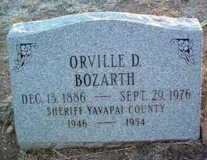 BOZARTH, ORVILLE DIVILLE - Yavapai County, Arizona | ORVILLE DIVILLE BOZARTH - Arizona Gravestone Photos