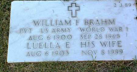 BRAHM, WILLIAM FRANK - Yavapai County, Arizona | WILLIAM FRANK BRAHM - Arizona Gravestone Photos