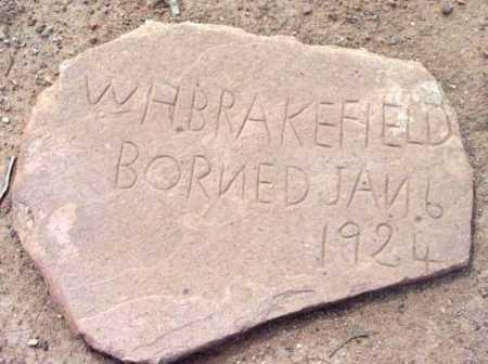 BRAKEFIELD, W.H. - Yavapai County, Arizona   W.H. BRAKEFIELD - Arizona Gravestone Photos
