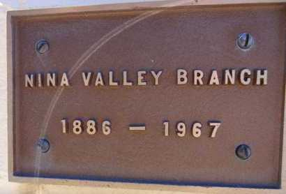 YOUNG BRANCH, NINA V. - Yavapai County, Arizona | NINA V. YOUNG BRANCH - Arizona Gravestone Photos