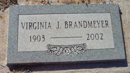 BRANDMEYER, VIRGINIA J. - Yavapai County, Arizona | VIRGINIA J. BRANDMEYER - Arizona Gravestone Photos