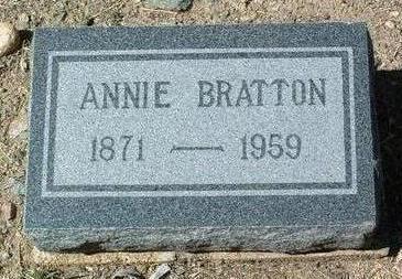 CURTIS BRATTON, ANNIE - Yavapai County, Arizona | ANNIE CURTIS BRATTON - Arizona Gravestone Photos
