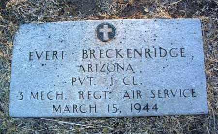 BRECKENRIDGE, EVERT - Yavapai County, Arizona   EVERT BRECKENRIDGE - Arizona Gravestone Photos