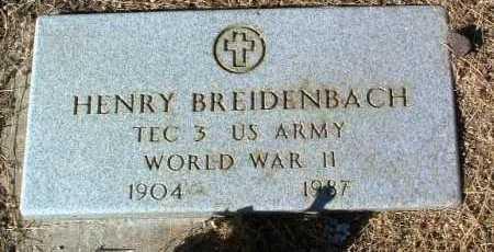 BREIDENBACH, HENRY - Yavapai County, Arizona | HENRY BREIDENBACH - Arizona Gravestone Photos
