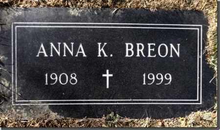 RICHARDS BREON, ANNA K. - Yavapai County, Arizona | ANNA K. RICHARDS BREON - Arizona Gravestone Photos