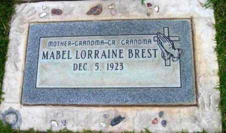 BREST, MABEL LORRAINE - Yavapai County, Arizona   MABEL LORRAINE BREST - Arizona Gravestone Photos