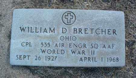 BRETCHER, WILLIAM D. - Yavapai County, Arizona   WILLIAM D. BRETCHER - Arizona Gravestone Photos