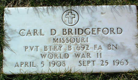 BRIDGEFORD, CARL D. - Yavapai County, Arizona | CARL D. BRIDGEFORD - Arizona Gravestone Photos