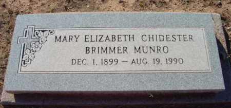 CHIDESTER BRIMMER, MARY ELIZABETH - Yavapai County, Arizona | MARY ELIZABETH CHIDESTER BRIMMER - Arizona Gravestone Photos