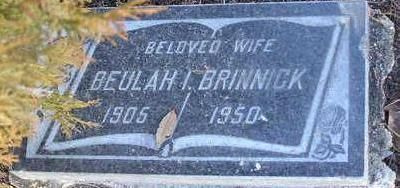 WEAVER BRINNICK, BEULAH - Yavapai County, Arizona | BEULAH WEAVER BRINNICK - Arizona Gravestone Photos