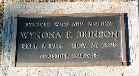 BRINSON, WYNONA F. - Yavapai County, Arizona   WYNONA F. BRINSON - Arizona Gravestone Photos