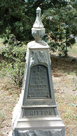 BRITTON, MARY ELIZABETH - Yavapai County, Arizona | MARY ELIZABETH BRITTON - Arizona Gravestone Photos