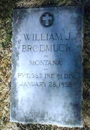 BRODMUCK, WILLIAM J. - Yavapai County, Arizona   WILLIAM J. BRODMUCK - Arizona Gravestone Photos