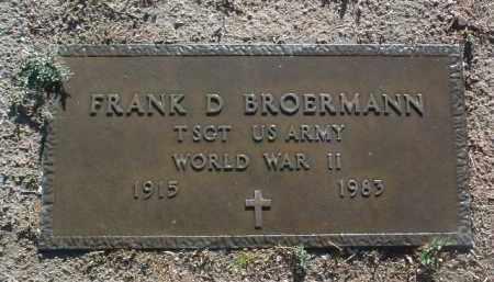 BROERMANN, FRANK D. - Yavapai County, Arizona | FRANK D. BROERMANN - Arizona Gravestone Photos