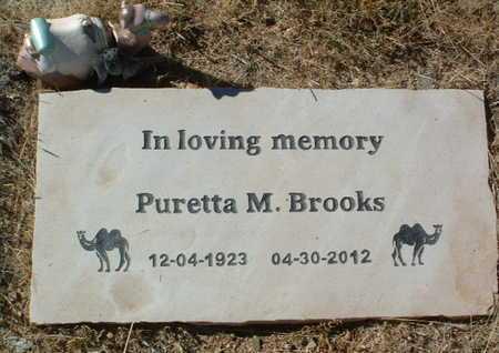 BROOKS, PURETTA M. - Yavapai County, Arizona   PURETTA M. BROOKS - Arizona Gravestone Photos