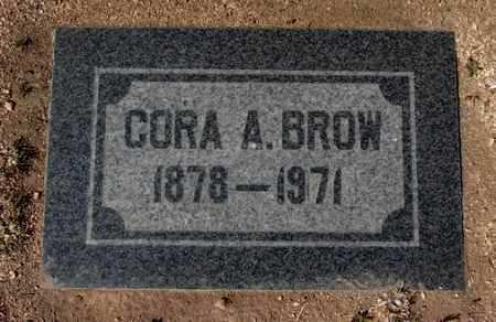 LINDSAY BROW, CORA A. - Yavapai County, Arizona | CORA A. LINDSAY BROW - Arizona Gravestone Photos