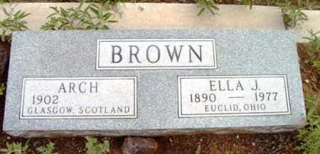 VERBSKY BROWN, ELLA J. - Yavapai County, Arizona | ELLA J. VERBSKY BROWN - Arizona Gravestone Photos