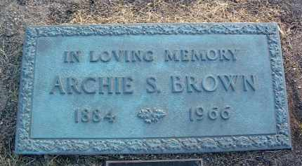 BROWN, ARCHIE S. - Yavapai County, Arizona | ARCHIE S. BROWN - Arizona Gravestone Photos