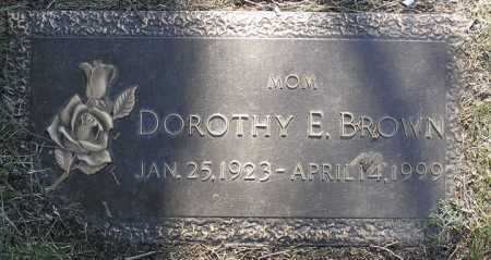 BROWN, DOROTHY E. - Yavapai County, Arizona | DOROTHY E. BROWN - Arizona Gravestone Photos
