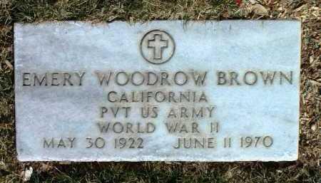 BROWN, EMERY WOODROW - Yavapai County, Arizona | EMERY WOODROW BROWN - Arizona Gravestone Photos