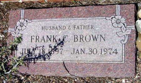 BROWN, FRANK C. - Yavapai County, Arizona | FRANK C. BROWN - Arizona Gravestone Photos