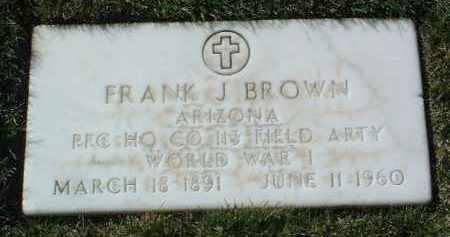 BROWN, FRANK JOSEPH - Yavapai County, Arizona | FRANK JOSEPH BROWN - Arizona Gravestone Photos
