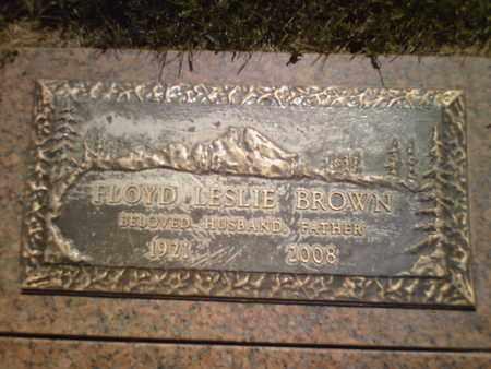 BROWN, FLOYD LESLIE - Yavapai County, Arizona | FLOYD LESLIE BROWN - Arizona Gravestone Photos