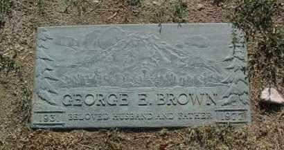 BROWN, GEORGE EDWARD - Yavapai County, Arizona | GEORGE EDWARD BROWN - Arizona Gravestone Photos