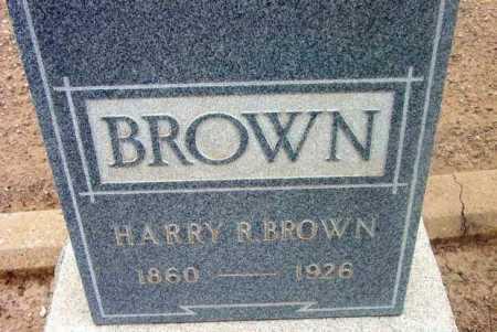 BROWN, HARRY R. - Yavapai County, Arizona | HARRY R. BROWN - Arizona Gravestone Photos