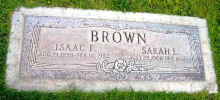 BROWN, ISAAC FRANKLIN - Yavapai County, Arizona   ISAAC FRANKLIN BROWN - Arizona Gravestone Photos