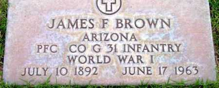 BROWN, JAMES F. - Yavapai County, Arizona | JAMES F. BROWN - Arizona Gravestone Photos