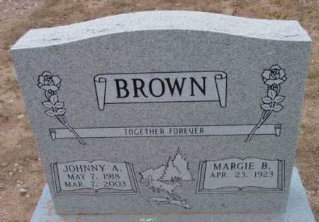 BROWN, JOHNNY A. - Yavapai County, Arizona | JOHNNY A. BROWN - Arizona Gravestone Photos
