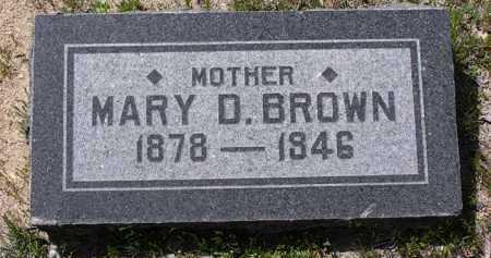 BROWN, MARY D. - Yavapai County, Arizona   MARY D. BROWN - Arizona Gravestone Photos