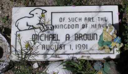 BROWN, MICHAEL A. - Yavapai County, Arizona | MICHAEL A. BROWN - Arizona Gravestone Photos