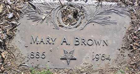 BROWN, MARY A. - Yavapai County, Arizona | MARY A. BROWN - Arizona Gravestone Photos