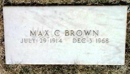 BROWN, MAX CLAYTON - Yavapai County, Arizona | MAX CLAYTON BROWN - Arizona Gravestone Photos