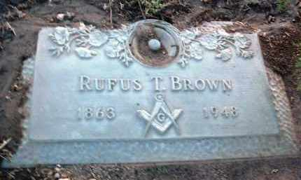 BROWN, RUFUS THOMAS - Yavapai County, Arizona | RUFUS THOMAS BROWN - Arizona Gravestone Photos