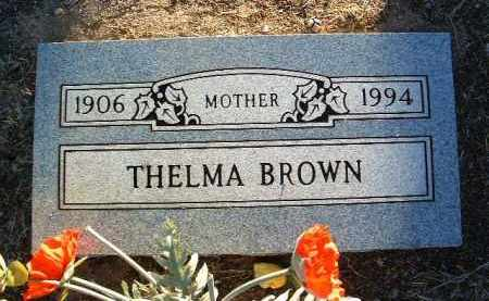 BROWN, THELMA - Yavapai County, Arizona | THELMA BROWN - Arizona Gravestone Photos