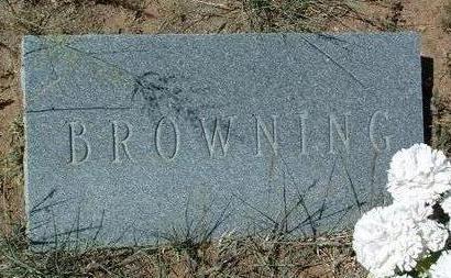 BROWNING, UNKNOWN - Yavapai County, Arizona | UNKNOWN BROWNING - Arizona Gravestone Photos