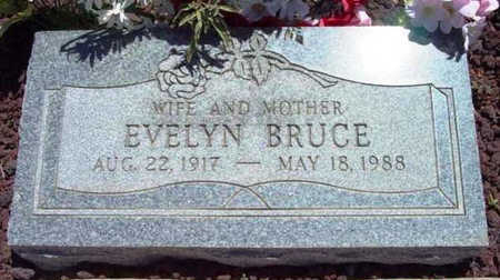 BRUCE, EVELYN - Yavapai County, Arizona | EVELYN BRUCE - Arizona Gravestone Photos