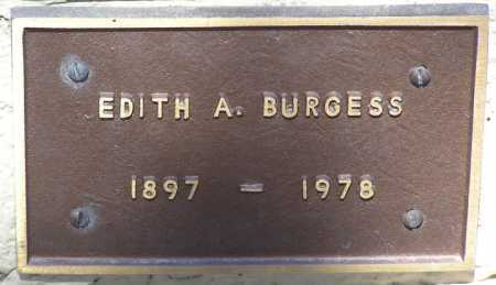 BURGESS, EDITH A. - Yavapai County, Arizona | EDITH A. BURGESS - Arizona Gravestone Photos