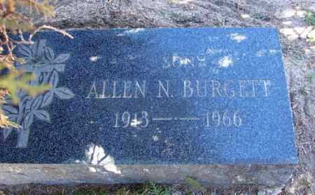 BURGETT, ALLEN NORMAN - Yavapai County, Arizona   ALLEN NORMAN BURGETT - Arizona Gravestone Photos