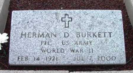 BURKETT, HERMAN DAVID - Yavapai County, Arizona   HERMAN DAVID BURKETT - Arizona Gravestone Photos
