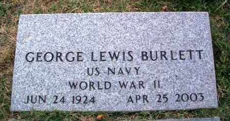 BURLETT, GEORGE LEWIS - Yavapai County, Arizona | GEORGE LEWIS BURLETT - Arizona Gravestone Photos