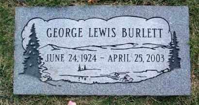 BURLETT, GEORGE LEWIS - Yavapai County, Arizona | GEORGE LEWIS BURLETT - Arizona Gravestone Photos