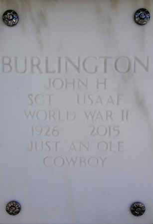 BURLINGTON, JOHN HARVEY - Yavapai County, Arizona   JOHN HARVEY BURLINGTON - Arizona Gravestone Photos